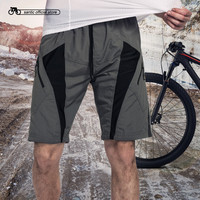 Santic Detachable Cushion ropa deportiva Mens Unremovable Foam Padded Cycling Shorts MTB Downhill Gray Shorts Cycling C05017