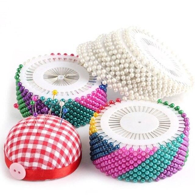 40/240/480 Uds accesorios de costura redonda alfileres con cabeza recta con forma de perla de corte y confección de pera ramillete Pin para DIY 5BB5582