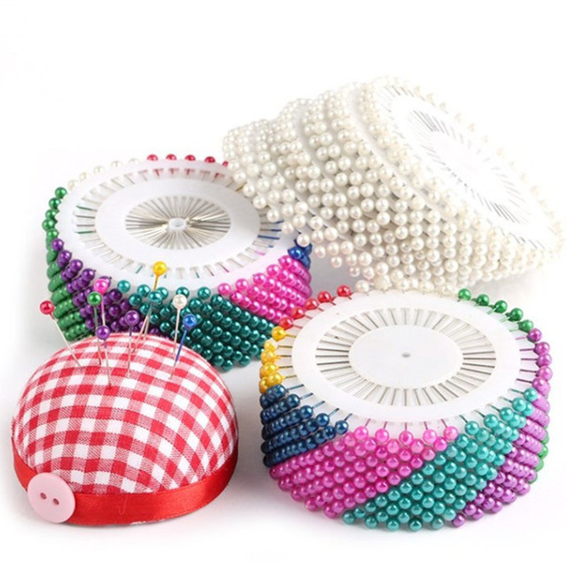 40/240/480pcs Sewing Accessories Round Pearl Straight Head Pins Dressmaking Faux Pear Corsage Pin for DIY 5BB5582