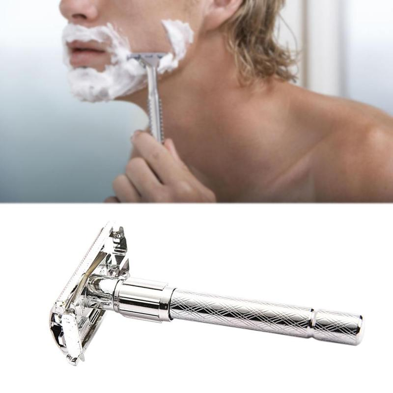 Adjustable Safety Traditional Classic Stainless Steel Manual Shaver Double Edge Blade Safety Razor M02363