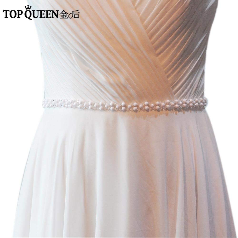 Topqueen hechas a mano de las mujeres s34a perlas de la boda de noche  vestido de fiesta Vestidos Accesorios novia dama de honor cinturones Fajas fa9ae8acfe43