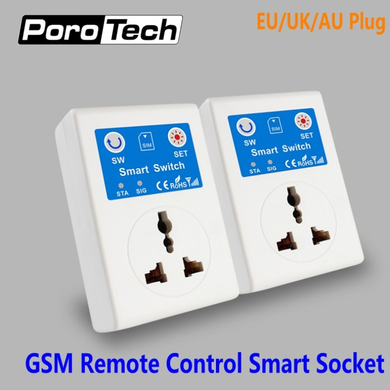 Wholesale 20PCS/lot GSM SMS Mobile Phone Remote Control Smart Socket SC1-GSMVC EU/UK/AU Plug GSM power Socket Smart Switch 16 ports 3g sms modem bulk sms sending 3g modem pool sim5360 new module bulk sms sending device
