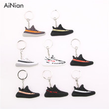 AiNian Mini Silicone YEEZY BOOST 350 V2 Shoes Keychain Bag Charm Woman Men Kids Key Holder Gift SPLY-350 Sneaker Key Chain(China)