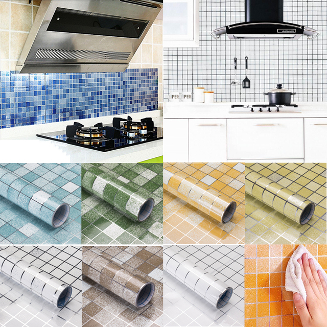 anti oil wall stickers high temperature paste kitchen self adhesive
