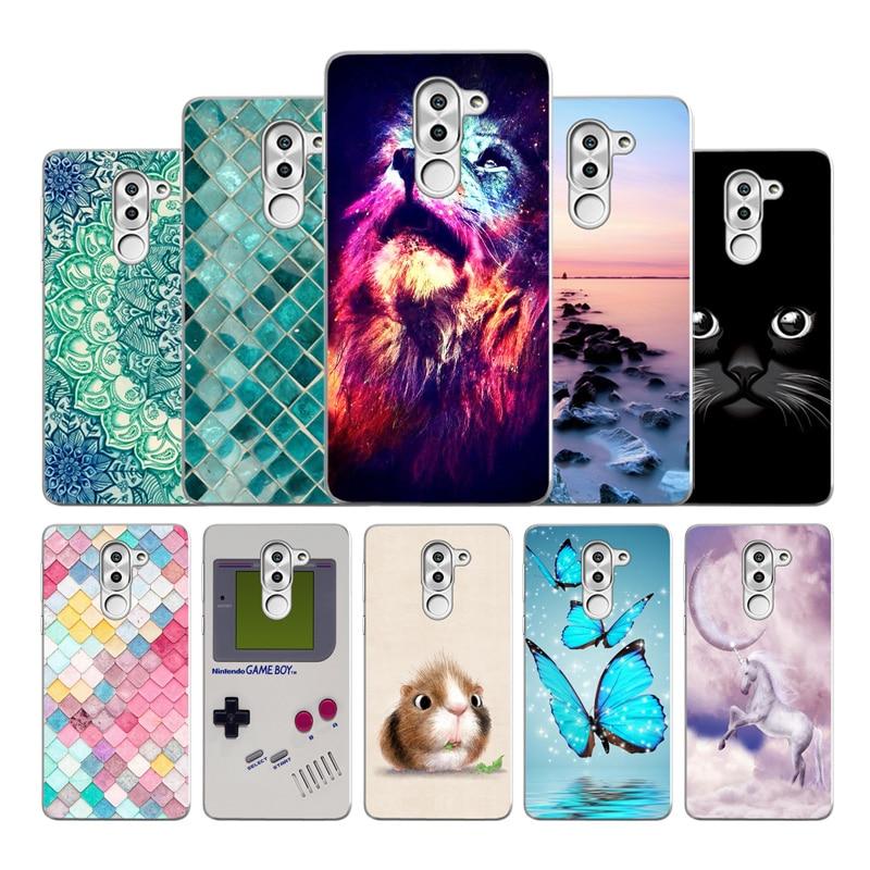 Case For Huawei Mate 9 lite Soft TPU Phone mate Silicone cute Cover hUawei bag