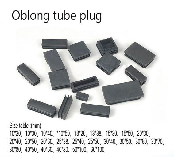Black Stopper Square Tube Slat Stopper Tube Stopper End Caps Plastic