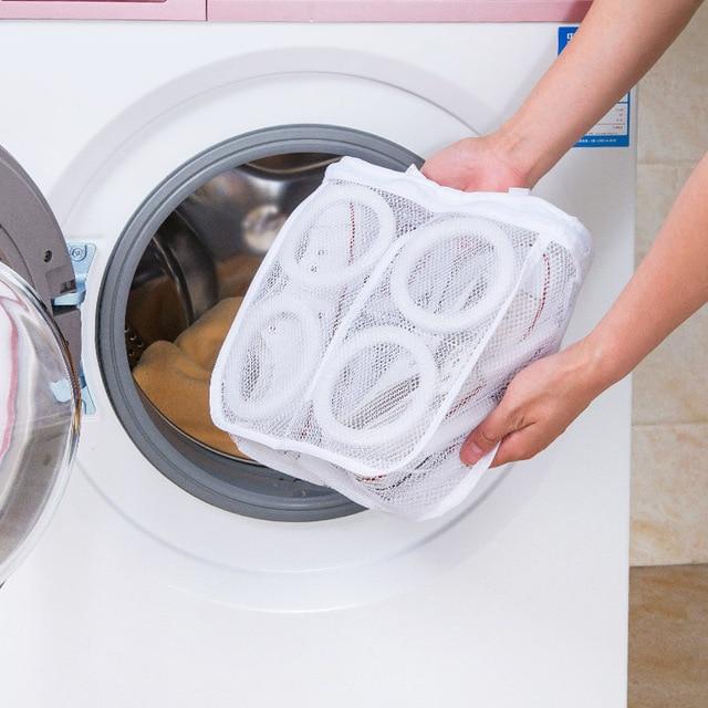 1 st nieuwe hot koop wassen schoenen tas mesh net pouch wasmachine