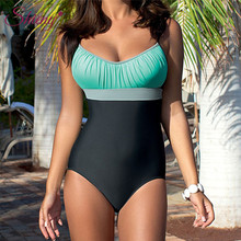Shieny 2018 Women One Piece Bikini Swimwear Bodysuit Beach Patchwork Bandage Beachwear Monokini Swimsuit Batching Suit Swimming
