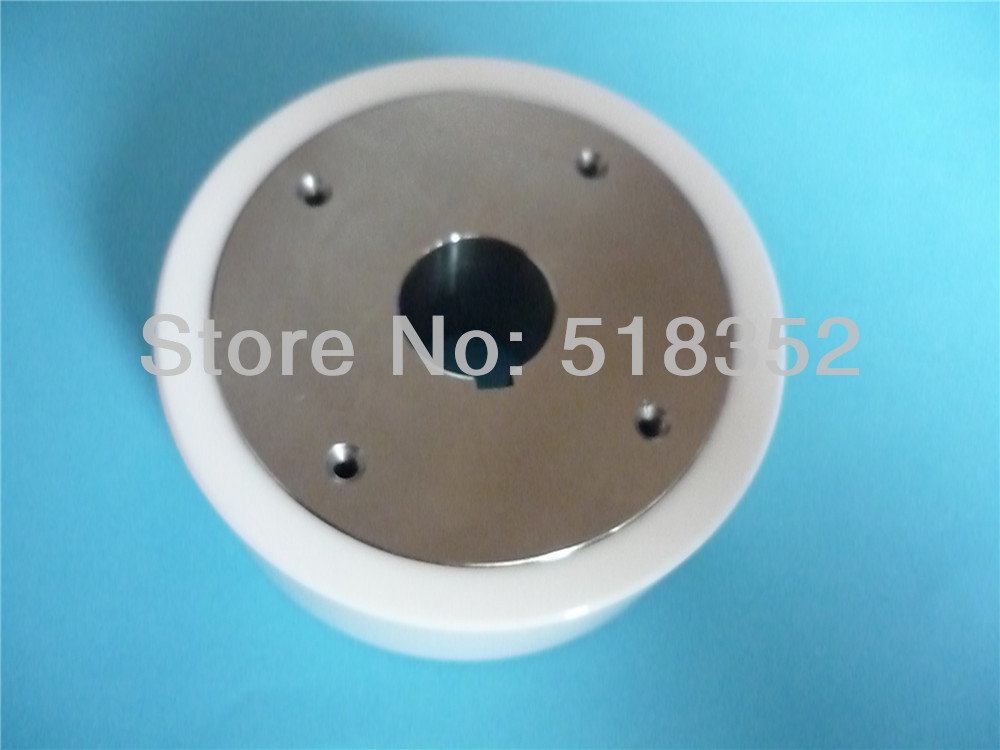 118534C OD70x T26.5*17mm Sodick White Ceramic Host Feed Roller with Key Hole, for DWC-AQ327.537 WEDM-LS Wire Cutting Wear Parts
