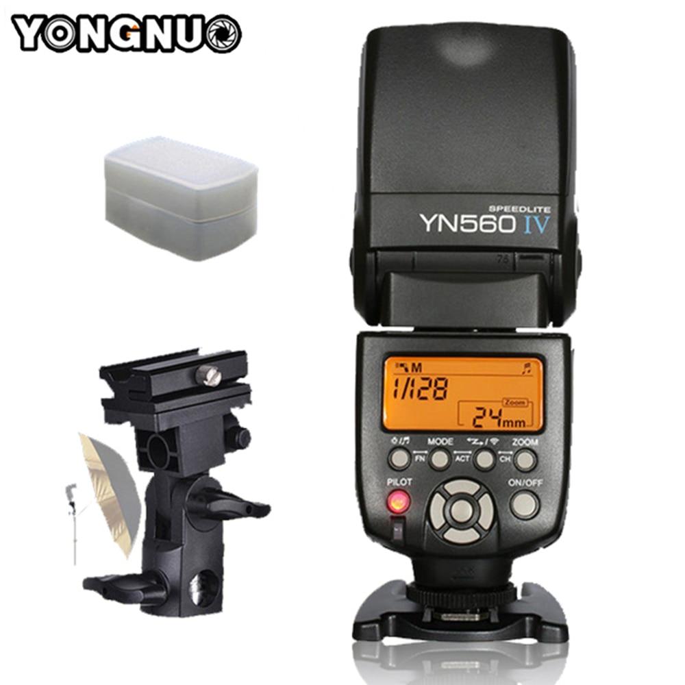Yongnuo YN560IV YN560 IV YN560 IV Flash Speedlite For Canon Nikon Pentax Sony A99 A58 A6000 A3000 A7s A7 NEX 6 A6300 DSLR Camera