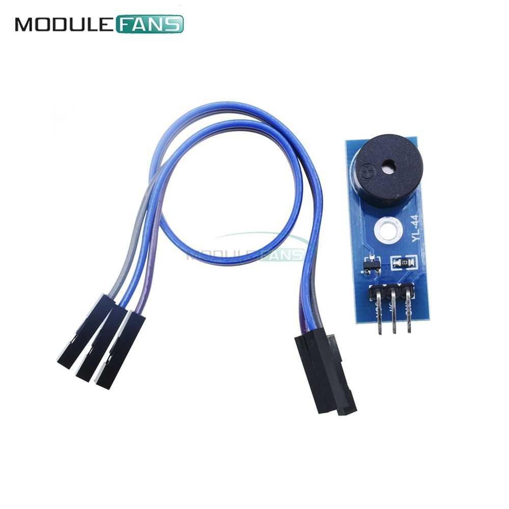 5PCS Passive Buzzer Alarm 3.3-5V Module Sensor Beep for arduino smart Car+Cable