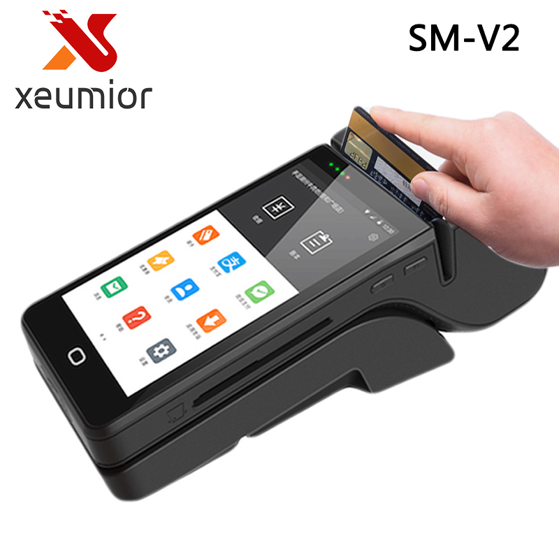 Handheld Android Smart POS Terminal Printer Portable Mobile MSR POS System with NFC Reader Mini POS Machine xiaomi mobile bank card reader terminal pos for m1 1s m2 2s 2a m3 orange white