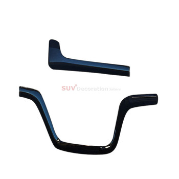 Right Hand Drive for 16-17 for Nissan Serena MkV C27 Piano Black ABS Inner Center Control Lid Cover Trim 2 pcs