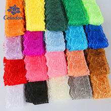10Yard/lot Lace Ribbon Trim Fabric Width 40mm Embroidered Lace Trim For Sewing Decoration DIY Garment Accessories