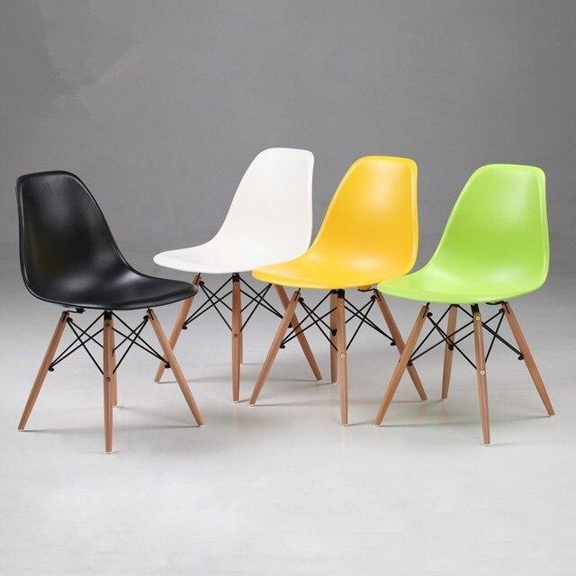 4 pz lotto moderno sedie moderne sedie di plastica con for Sedie plastica moderne