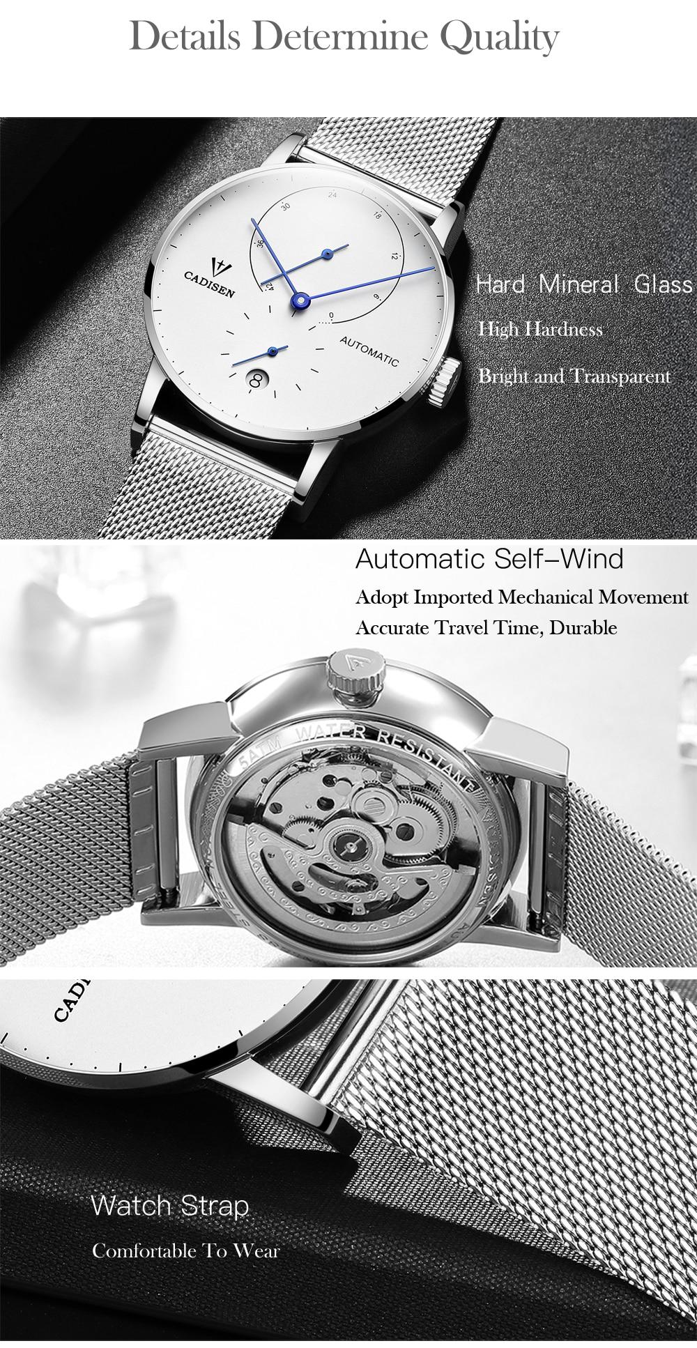 HTB159.6kvImBKNjSZFlq6A43FXaq Mens Watches CADISEN 2019 Top Luxury Brand Automatic Mechanical Watch Men Full Steel Business Waterproof Fashion Sport Watches