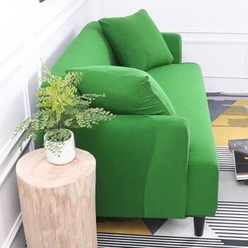 Dunkelgrüne Farbe Engen All-Inclusive Sofa Abdeckung Stretch Sofa Schonbezug Stoff Elastische Couch Abdeckung Sofa Sofa Möbel Abdeckung