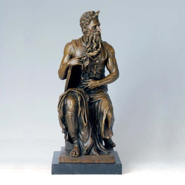ATLIE BRONZES Greek Mythology Religious Statues Bronze Moses Statue Signed Sculpture artwork Collections