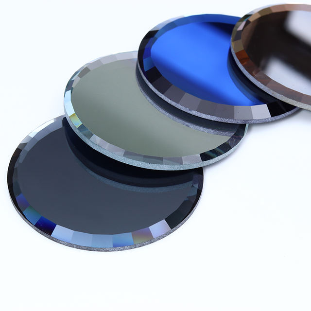 1Pc Mirror Nail Palette Glass False Nail Tips Display Board Color Practice Showing Shelf Nail Art Manicure Tools