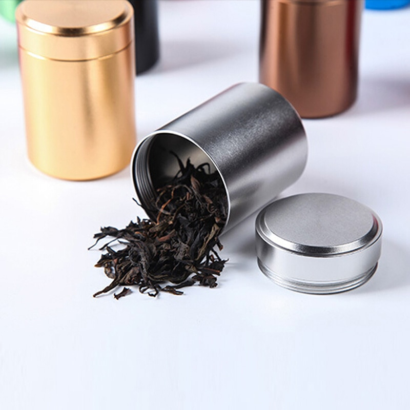 Mini Metal Cans Tea Caddy Storage Bottles Sealed Canisters Portable Travel Stainless Steel Tea Tank Box Food Storage