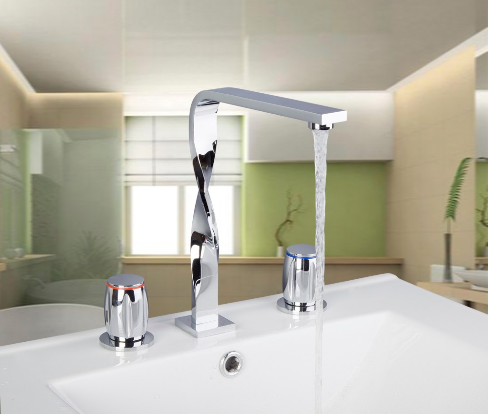 56G Construction & Real Estate 3PCS Set Deck Mounted Chrome Bathtub Shower Faucet Basin Mixer Tap kathleen peddicord how to buy real estate overseas
