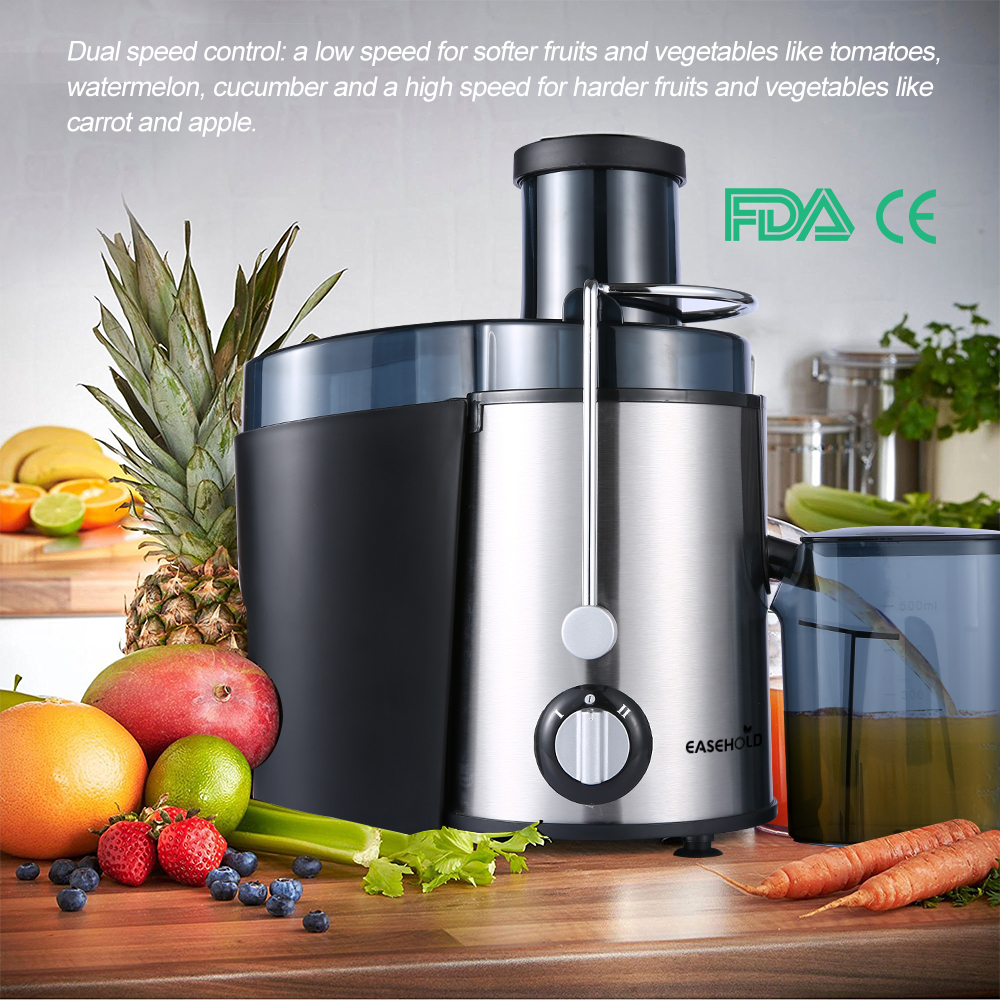 EASEHOLD  2017 New Arrival 400W Juicer Dual Speed Fruit And Vegetable Juice Extractor glantop 2l smoothie blender fruit juice mixer juicer high performance pro commercial glthsg2029