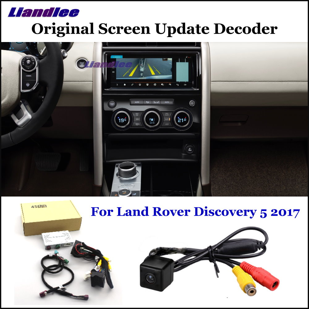 Liandlee Car Original Screen Update System For Land Rover Discovery 5 2017 Rear Reverse Parking Camera