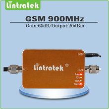 Mini Tamaño Negro/Amarillo Ganancia 65dB amplificador de señal gsm 900 mhz celular amplificador de señal GSM 900 Mhz Teléfono Móvil Repetidor de señal