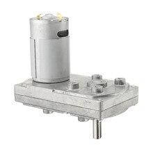 Высокий крутящий момент металлический редуктор двигатели серебро DC 12V 6000 об/мин квадратный электродвигатель