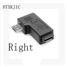 Connector 90 Degree Right & Left Angled Micro USB 2.0 5Pin Male to Female M to F Extension connector Adapter For computer