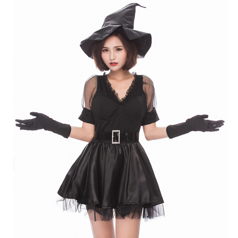 costumes for adults black medieval sexy witch costume women hat fancy dress halloween costumes for women plus size vampire sexy