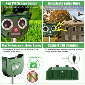 Image 4 - New Outdoor Ultrasonic Solar Pest Repeller Flash Animal Pest Mouse Repeller Garden Bird Cat Dog Fox Repellent Keep Animals Away