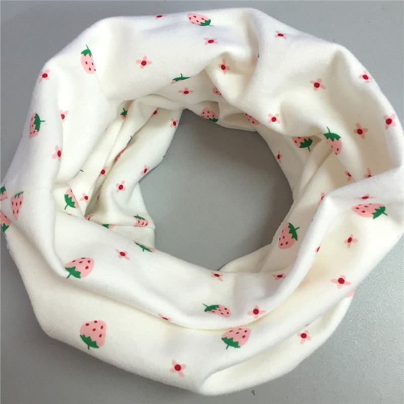 Baby Cotton Neck Scarf Cute Print Children Scarves Kids Collars Autumn Winter Boys Girls O Ring Scarf Baby Clothing Accessories