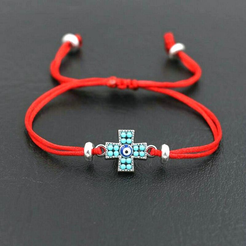 BPPCCR Couples Jewelry Red Rope Thread Cross bracelet For Men Women Boys Girls Evil Eye Love Friendship Bracelets Lucky Gifts men beaded bracelet red