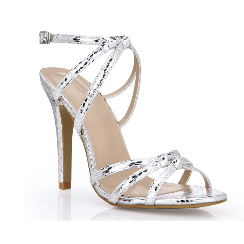 ФОТО 2016 plus size 41 42 43 women snake embossed leather sexy stiletto high heels sandals buckle summer party shoes woman sandalias