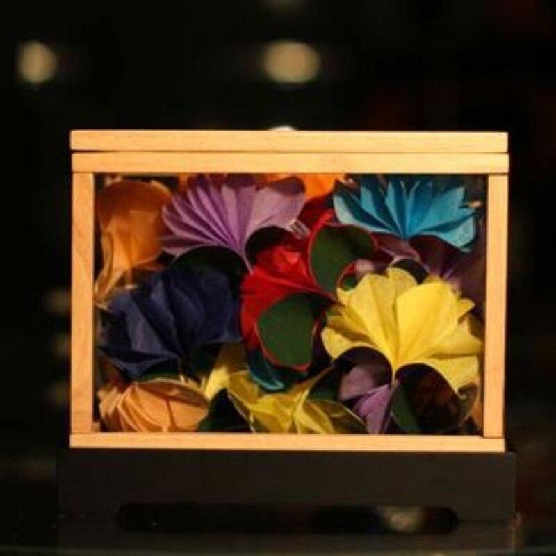 Livraison gratuite dream box argent-apparaissant boîte fleur-apparaissant boîte tours de magie jouets magiques