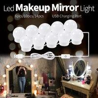 CanLing LED 12V Make Spiegel Gloeilamp Hollywood Vanity Verlichting Traploos Dimbare Wandlamp 6 10 14 Bollen Kit voor Kaptafel