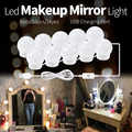CanLing LED 12V maquillaje espejo bombilla Hollywood Vanity luces continua regulable lámpara de pared 6 10 14 bombillas Kit para tocador