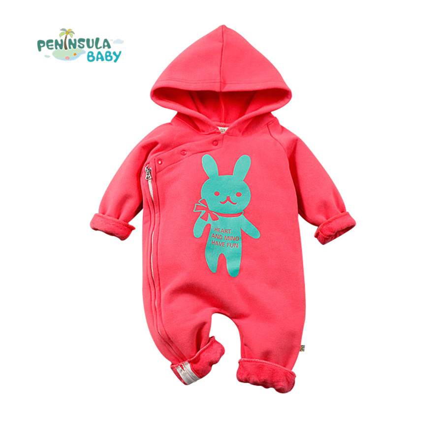 Baby Romper Cartoon Rabbit Newborn Infant Boys Girls Toddler Clothing The Side Zipper Kids Jumpsuits New Year Costumes For Kids cute black jumpsuits outfits clothing baby kid boy girl wings newborn toddler child infant kids boys girls clothes romper 0 18m