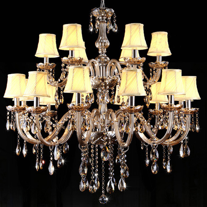 quality design 3e4af 5cfe2 US $397.8 15% OFF|imported crystal chandeliers living room lamp coloured  glass diamond led crystal lamp Villa staircase hotel lobby Chandelier-in ...