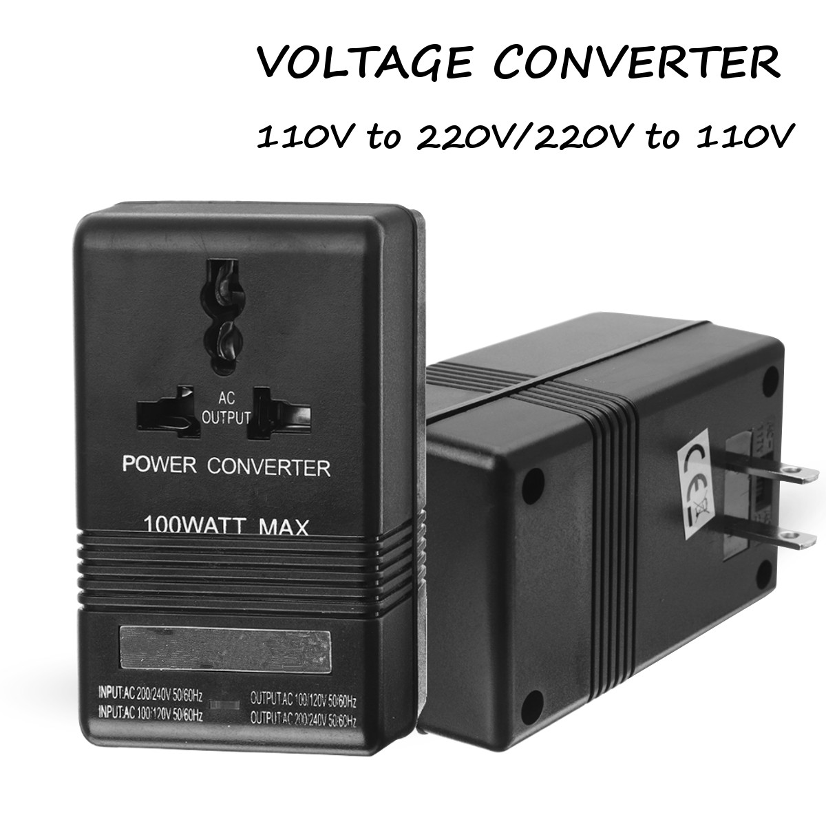 AC 110V to 220V 100W Step Up and Down Dual Voltage Converter Transformer For Electrical Appliances Travel Adapter Switch бра eglo maserlo 95055
