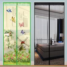Głośnomówiący magnetyczna siatka na komary drzwi netto ochrona przeciwko muchom owad moskitiera do drzwi anty-moskitiera magnetyczna kurtyna do drzwi tanie tanio KEDE Drzwi i okna ekrany Hook Loop Zapięcie NYLON Blue Pourple Coffee Green black Beige