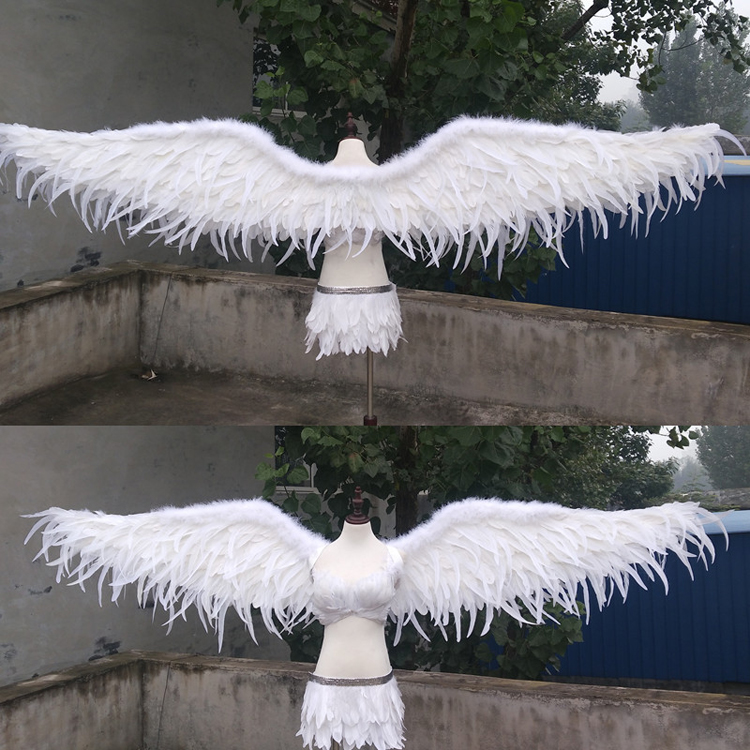 High quality luxury white angel wings Cosplay Game props wedding Grand Event bar Decorations photography props