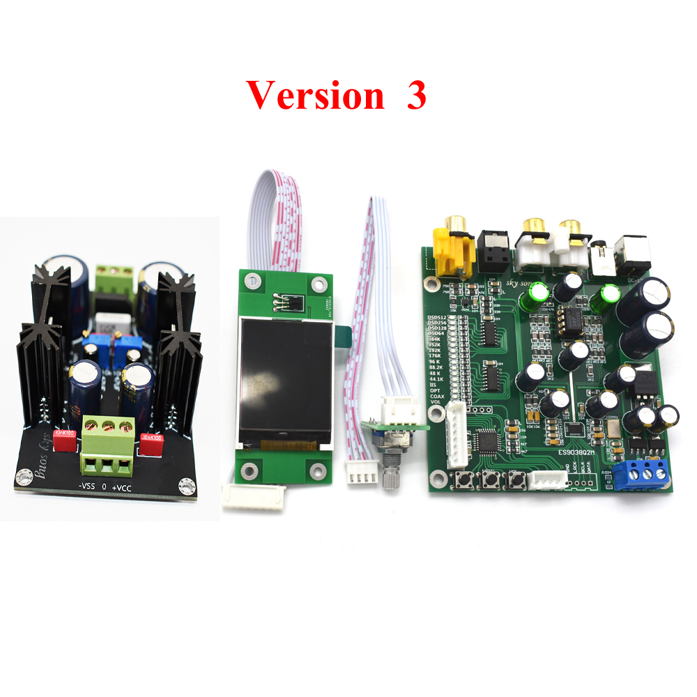 Accessories & Parts Oled Display For Es9038q2m Es9038 Q2m I2s Dsd Optical Coaxial Input Decoder Dac Headphone Output Hifi Audio Amplifier Board