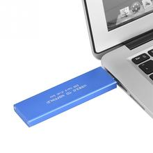 USB3.0 к M.2 NGFF SSD жесткий диск корпус 120 г синий