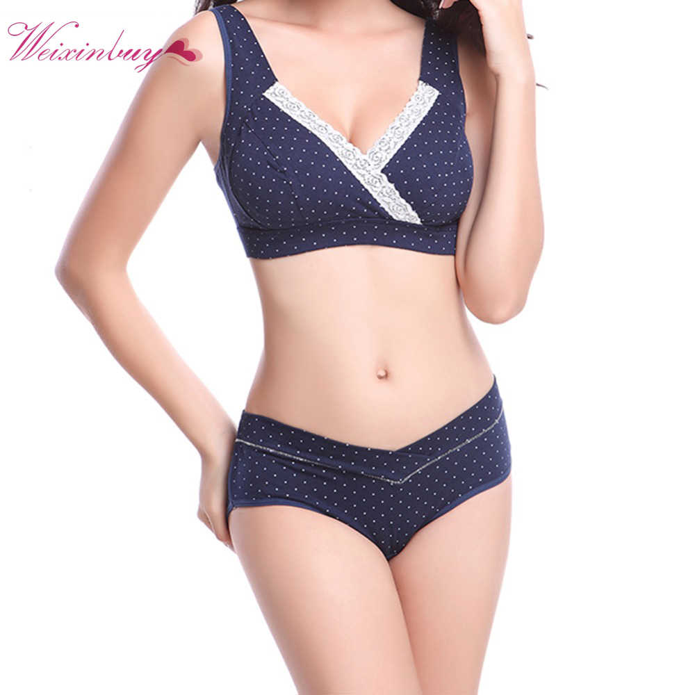 acfb8bb2b448f Women Maternity Panties Briefs Pregnant Lingerie Knickers Low Waist  Underwear 100% cotton bra