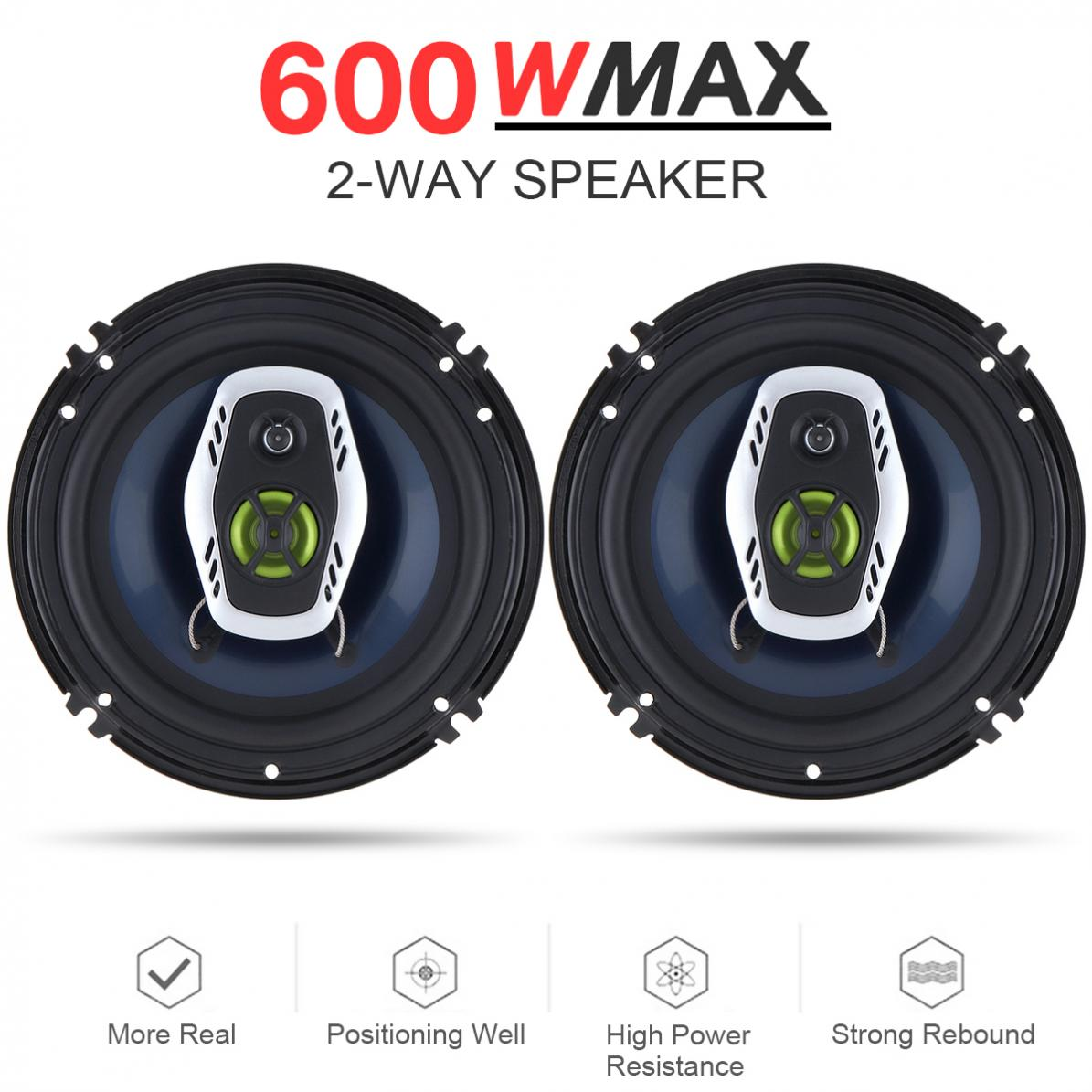 2pcs 6 5 Inch 600W 2 Way Car Coaxial Auto Audio Music Stereo Full Range Frequency