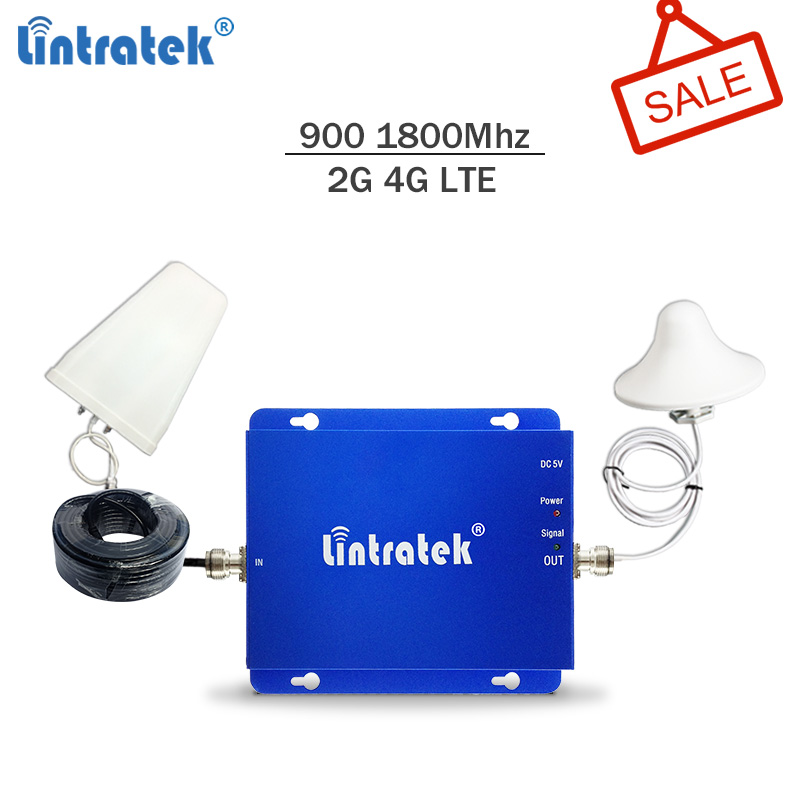 Lintratek Signal Booster 2G 4G 900 1800 Repeater GSM 4G Signal Booster LTE 1800Mhz GSM Repeater 4G Amplifier Dual Band #SALE