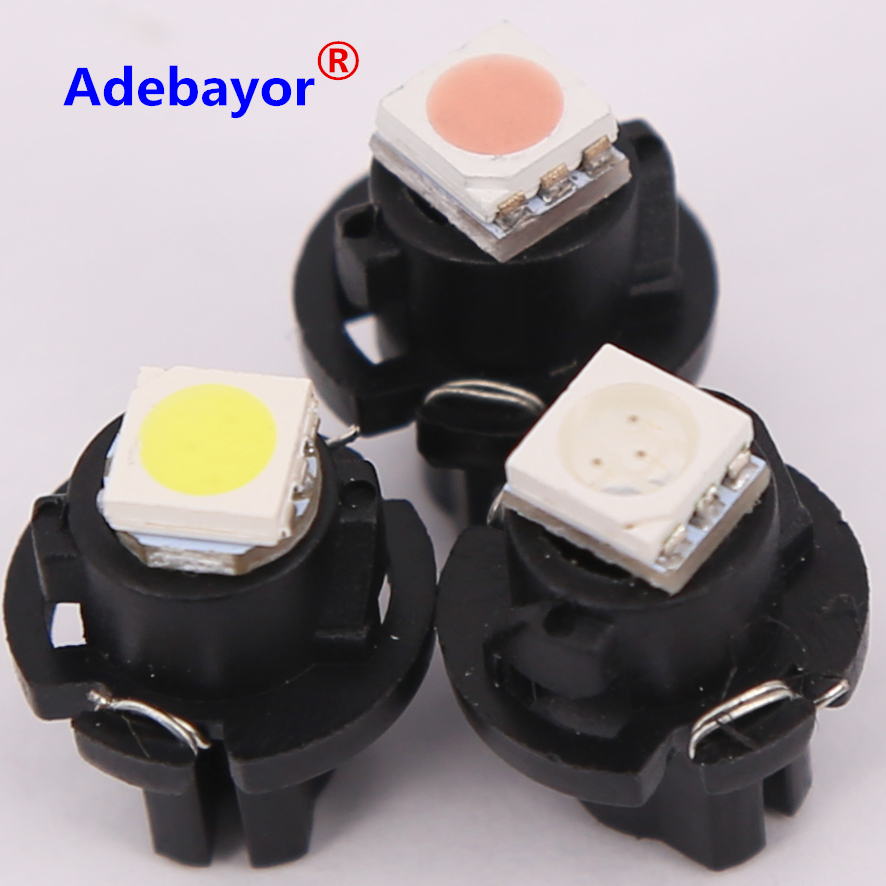 NEW 10 x Car / air LED Dashboard Bulb T5 wire 5050 1SMD T6.5 12MM ...