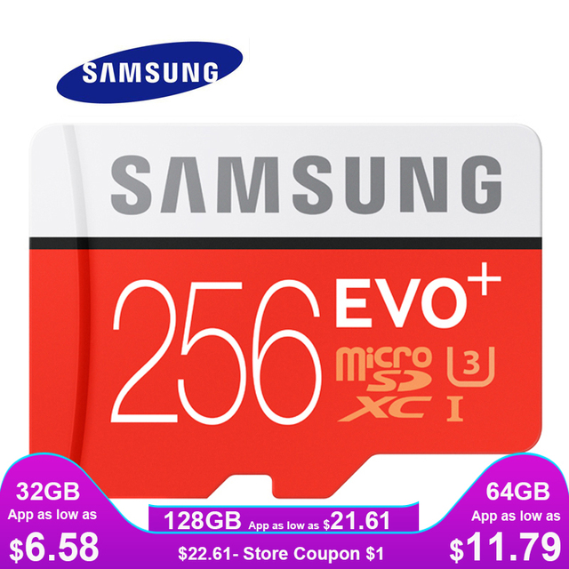 סמסונג זיכרון כרטיס מיקרו SD 256 gb 16 gb 32 gb 64 gb 128 gb SDHC SDXC כיתה EVO + כיתת 10 C10 UHS TF כרטיסי Trans פלאש Microsd חדש